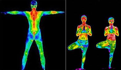 zone de chaleur du corps