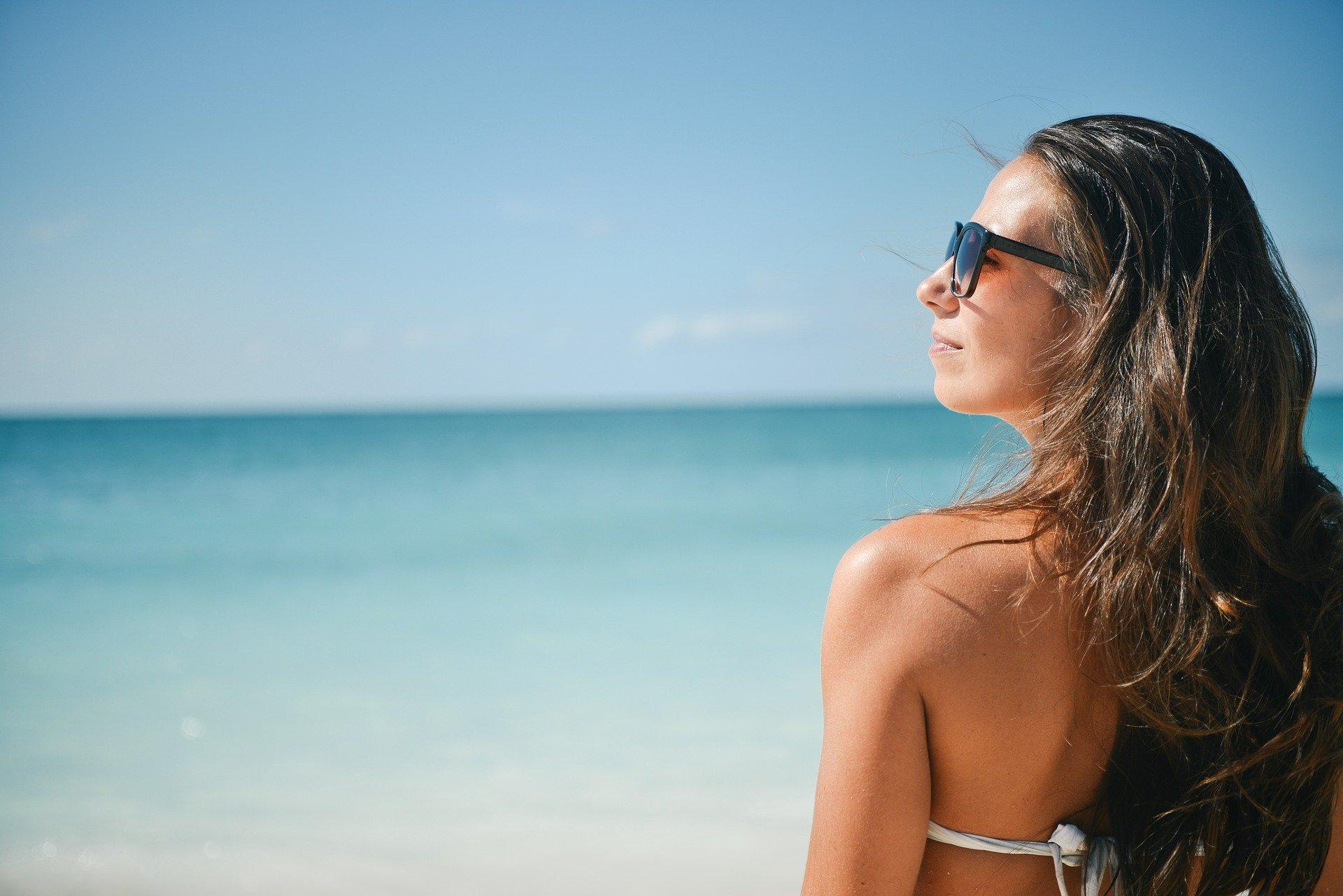 soleil plage lunettes